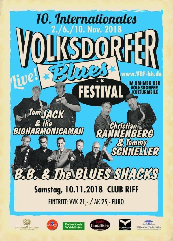 Volksdorfer Blues Festival - Christian Rannenberg & Tommy Schneller Tom Jack & The Bigharmonicaman B.B. & The Blues Shacks