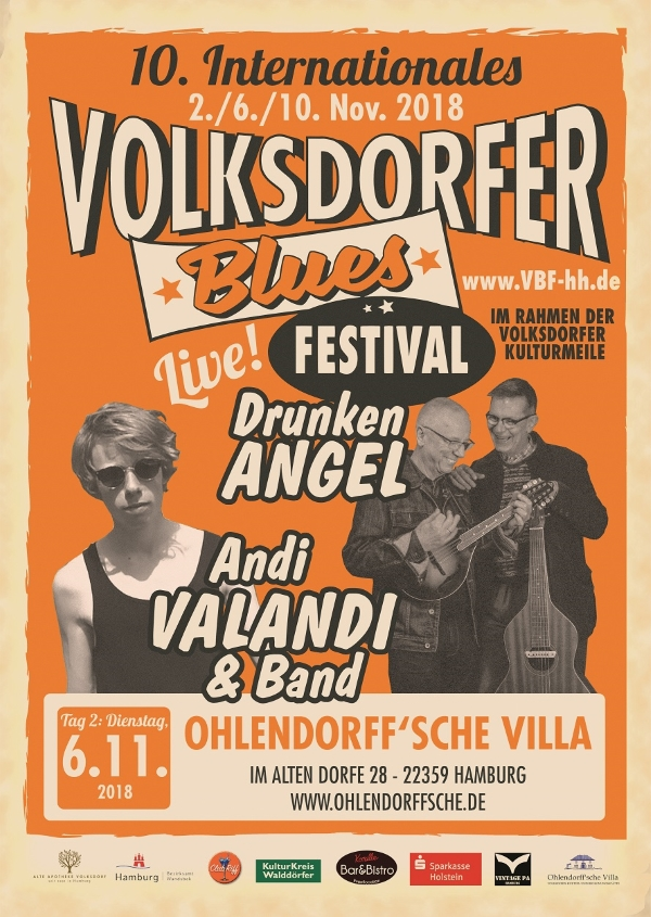 Volksdorfer Blues Festival - Drunken Angel und Andi Valandi & Band