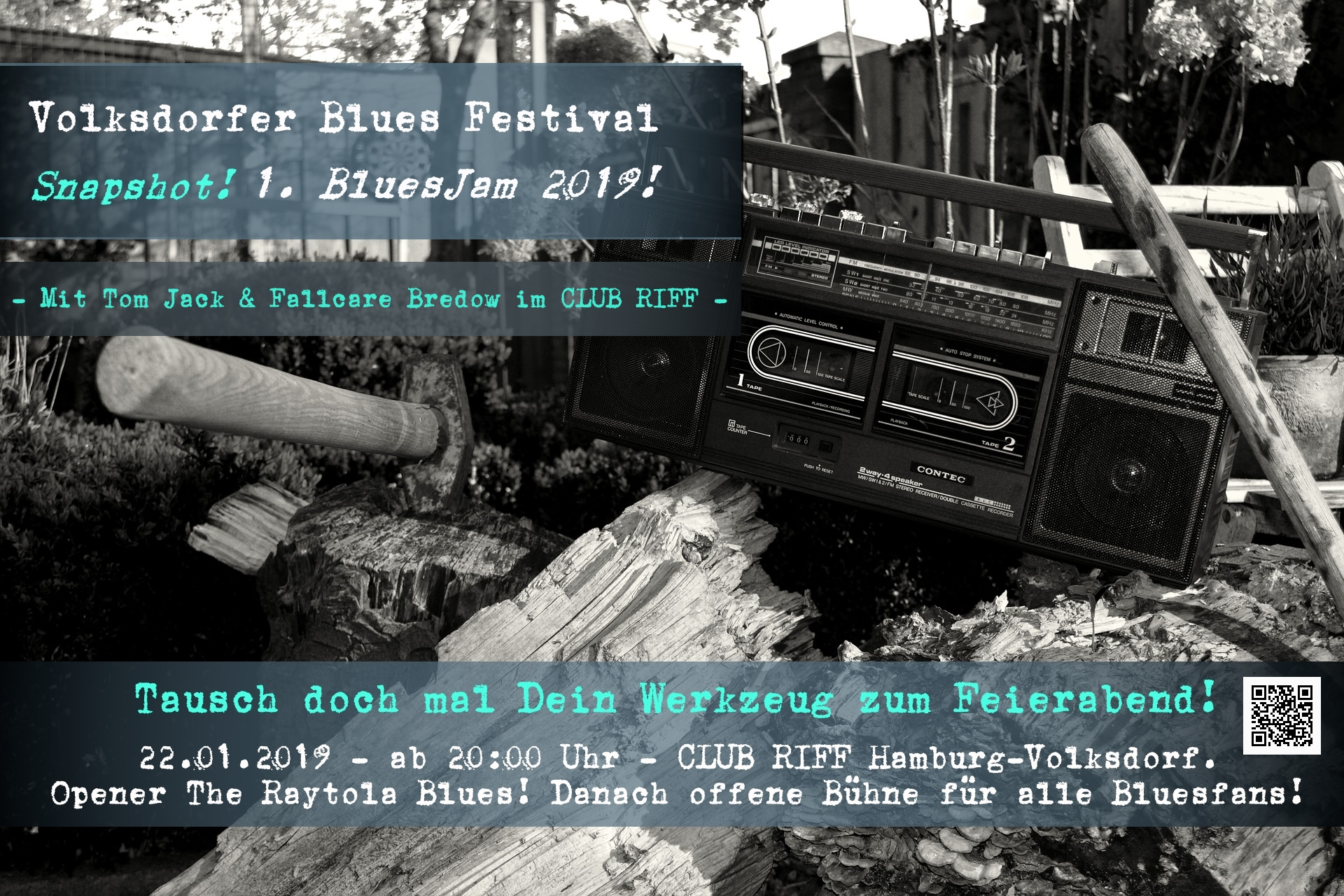 22.01.2018 – 1. BluesJam im CLUB RIFF 2019