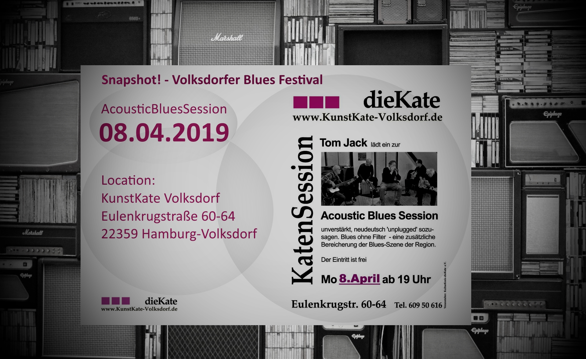 08.04.2019 – Acoustic Blues Session (ABS) – KunstKate Volksdorf