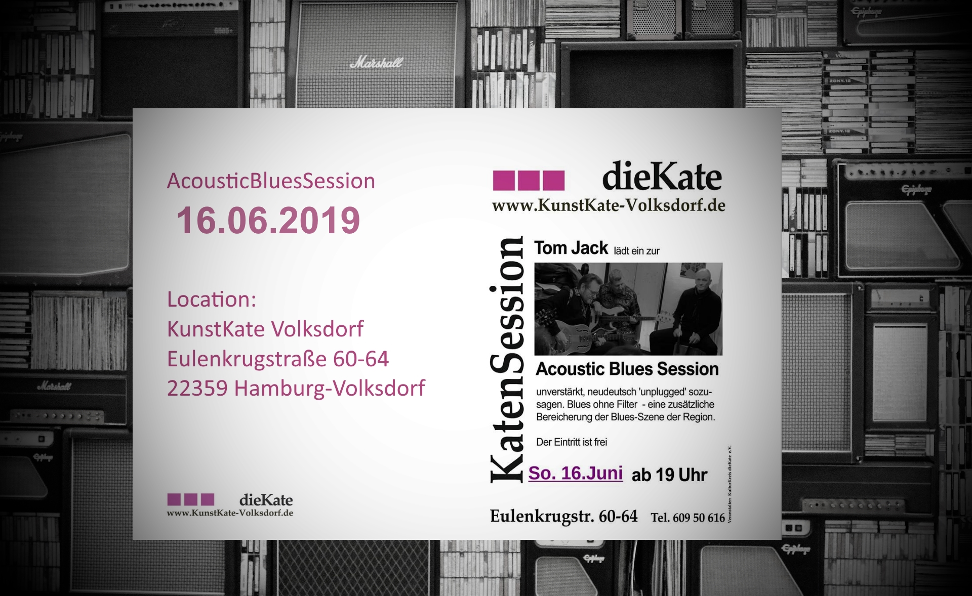 16.06.2019 – Acoustic Blues Session (ABS) – KunstKate Volksdorf