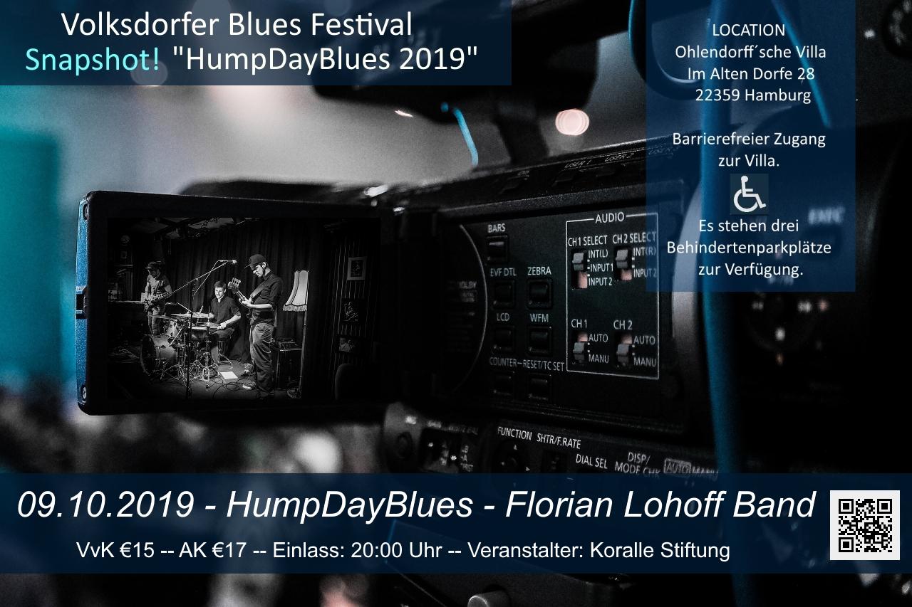 09.10.2019 –  Florian Lohoff Band – HumpDayBlues – Ohlendorff'sche Villa