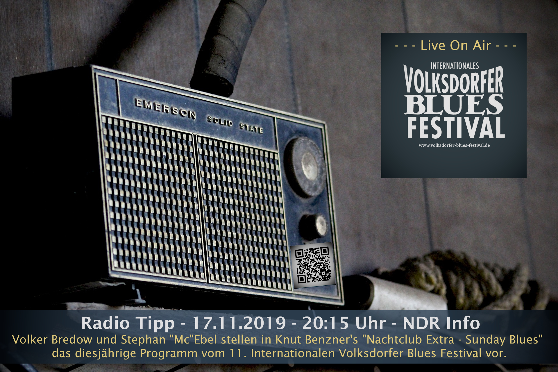 "17.11.2020 – Radio Tipp: ""VBF Live On Air"" – NDR Info"