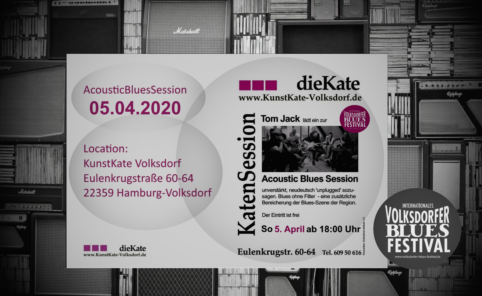 05.04.2020 – Acoustic Blues Session (ABS) – KunstKate Volksdorf