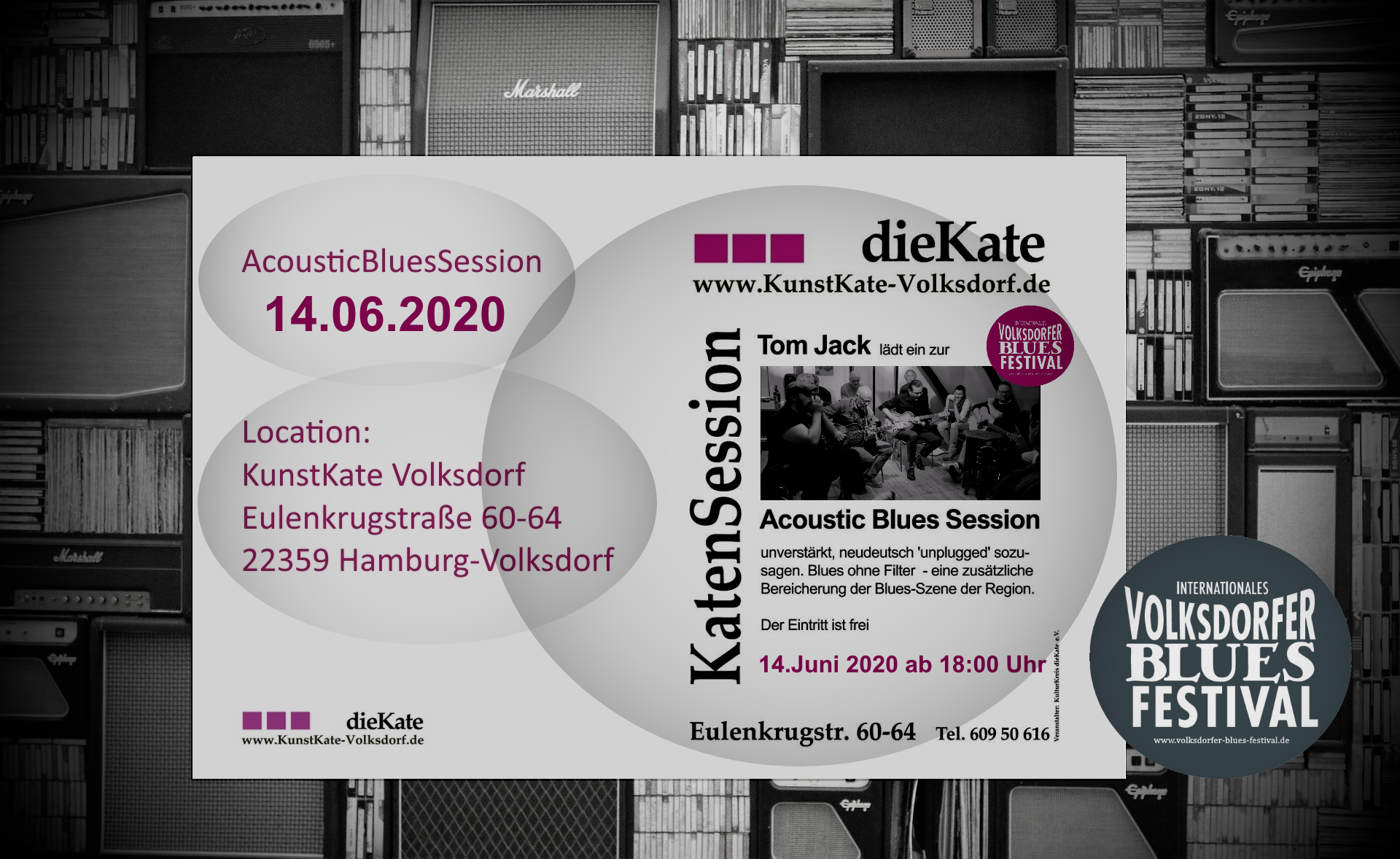 14.06.2020 – Acoustic Blues Session (ABS) – KunstKate Volksdorf