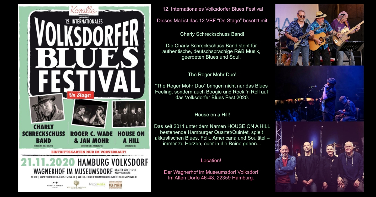 21.11.2020 – 12. Internationales Volksdorfer Blues Festival 2020