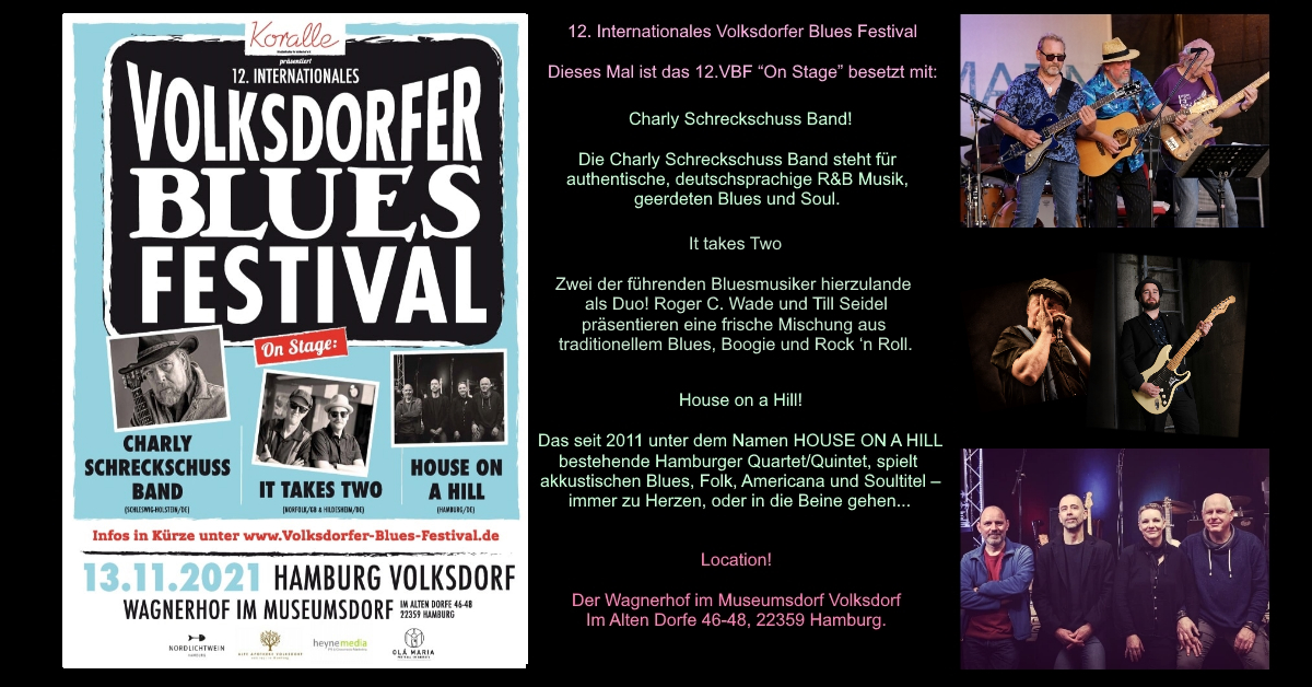 13.11.2021 – 12. Internationales Volksdorfer Blues Festival 2021